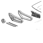 24-230SL-250SL-280SL-motorkapdelen-24